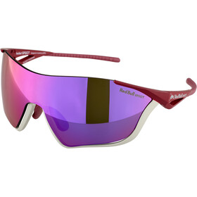 Red Bull SPECT Flow Lunettes de soleil, matt light grey/burgundy/smoke-pink